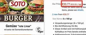 vegan food in Germany