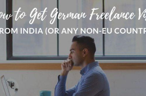 german freelance visa from india