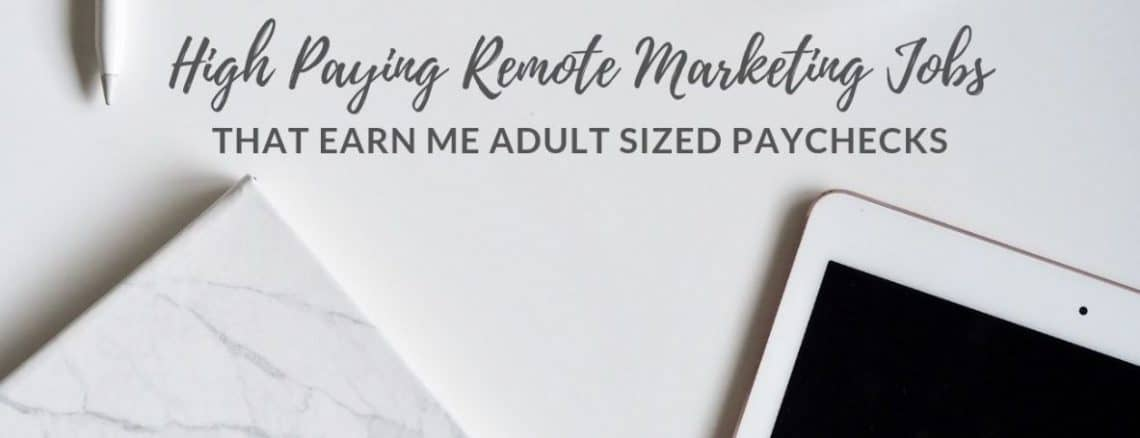 High Paying Remote Marketing Jobs