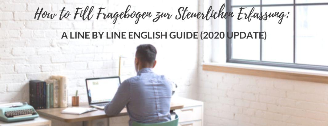 Fragebogen zur Steuerlichen Erfassung English 2020