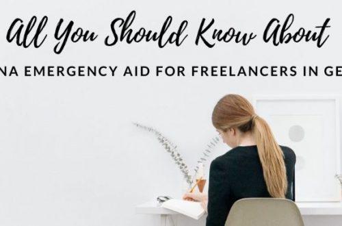 Corona Emergency Aid For Freelancers in Germany